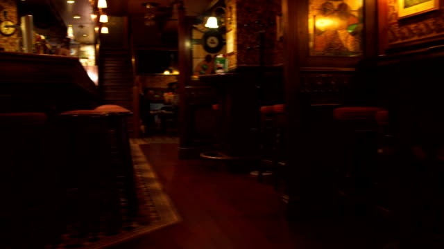 Empty Pub HD1080p: Panning shot of an empty English pub. bar counter stock videos & royalty-free footage