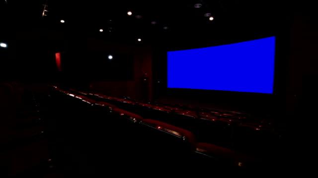 Empty red cinema hall video