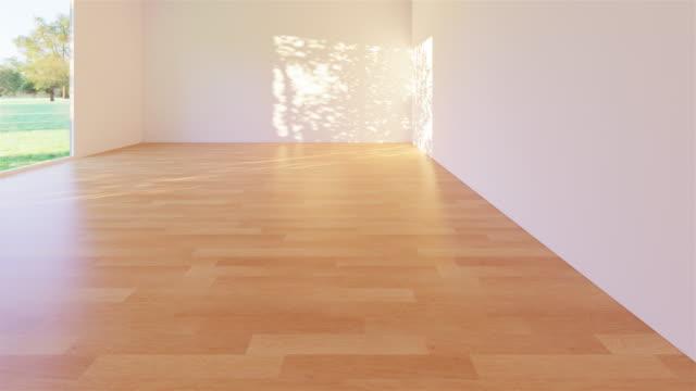 empty room wood floor