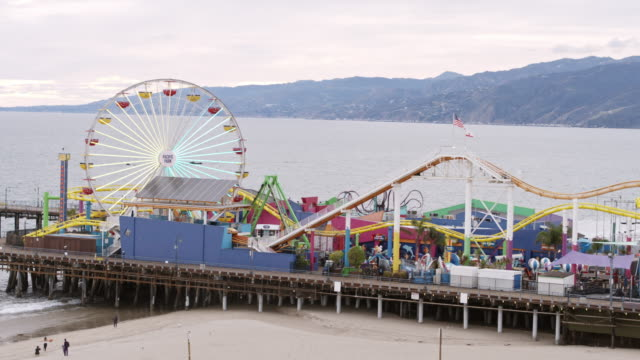 Empty Santa Monica Pier During Covid-19 Pandemic