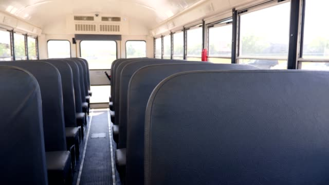 Empty school bus seats