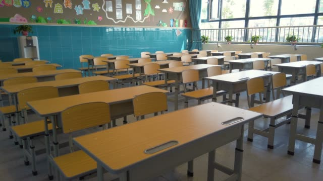 Empty school classroom Empty school classroom school building stock videos & royalty-free footage