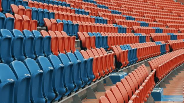 leere plätze im stadion - stadion stock-videos und b-roll-filmmaterial