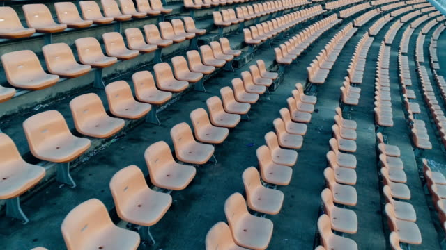 Empty seats in a stadium video