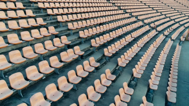 empty seats in a stadium - stand video stock e b–roll