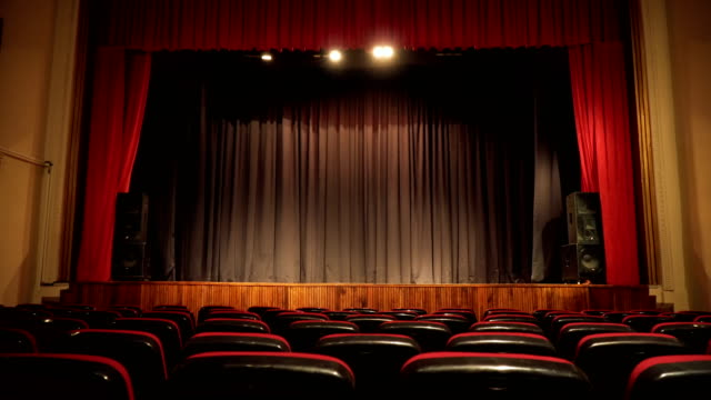 Empty Seats in Theatre Scene 4K, 25P, Sliding Camera musical theater stock videos & royalty-free footage