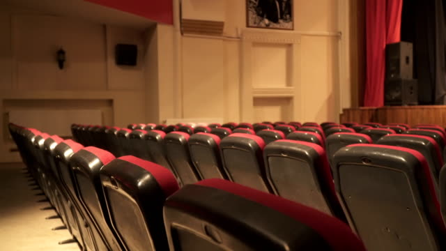 Empty Seats in Theatre Scene 4K, 25P, Sliding Camera stage theater stock videos & royalty-free footage