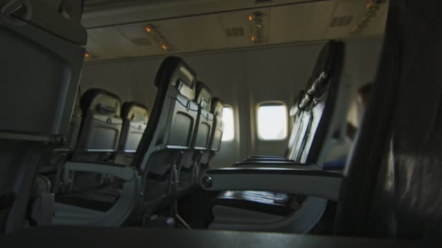 Empty seats on an airplane video