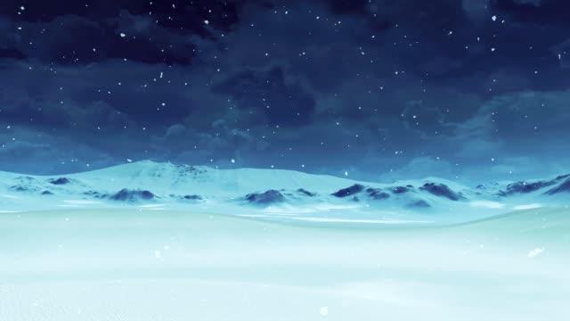 vídeos y material grabado en eventos de stock de desierto nevado vacío en las nevadas - paisaje de invierno simple - nieve amontonada