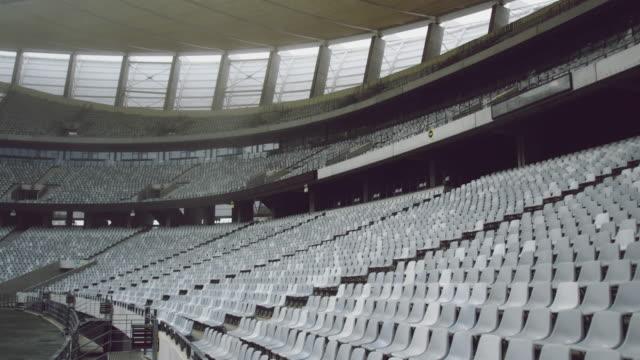 Empty spectators seat in a stadium 4k