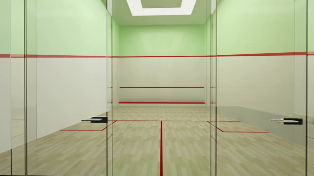 Empty squash court video
