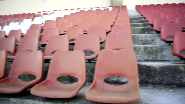 Empty stadium seats video