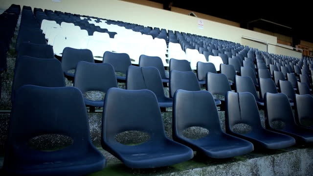 Empty stadium seats video