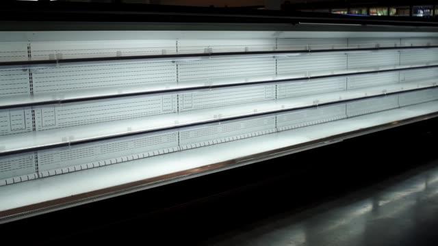 empty store shelves sale of goods