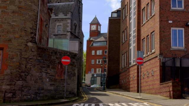 Empty street in Dublin, Ireland video