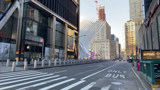 Empty streets of New York