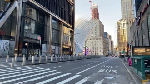 vídeos y material grabado en eventos de stock de calles vacías de nueva york - calle principal calle