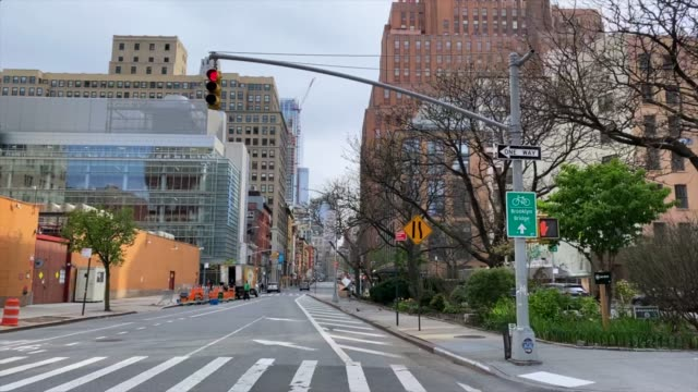 Empty streets of New York Empty streets of New York during Covid-19 quarantine stay home stock videos & royalty-free footage