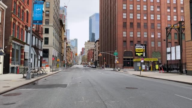 empty streets of new york - space video stock e b–roll