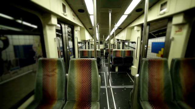 Empty Subway train seats video