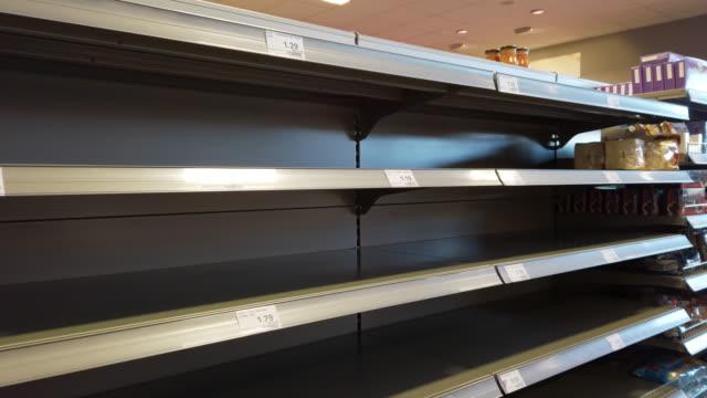 Empty Supermarket Shelves During Coronavirus Epidemic