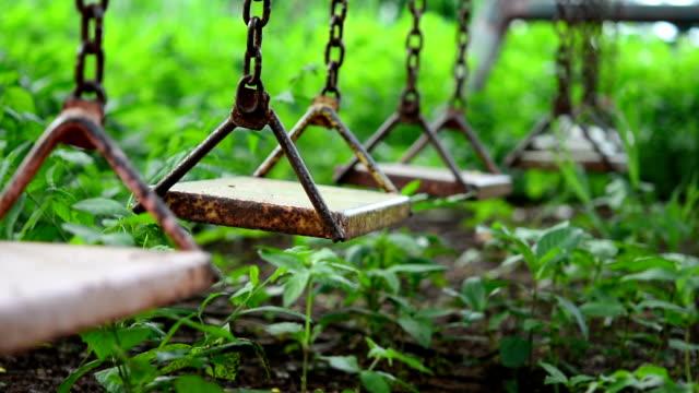 empty swing - rusty stock videos & royalty-free footage
