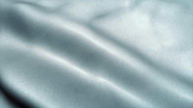 vuoto bianco chiaro sventolando nel filmato del vento. animazione 3d - bandiera video stock e b–roll