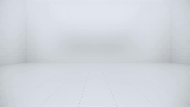 vídeos de stock e filmes b-roll de empty white granite tiles design room interior design 3d rendering - white wall