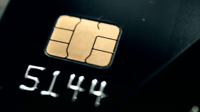emv chip credit cards - credit card video stock e b–roll