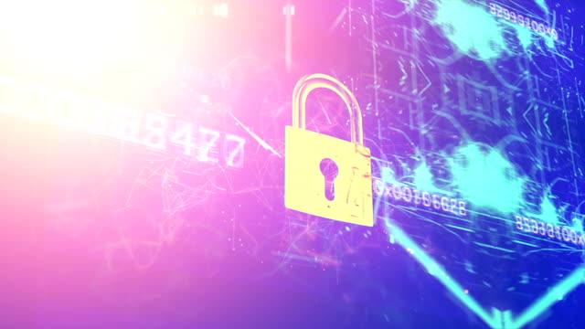 暗号化の背景 - ウイルス対策ソフト点の映像素材/bロール
