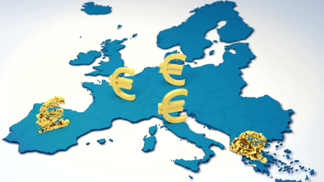 ende der europäischen währung. euro nothilfe. - europäische union stock-videos und b-roll-filmmaterial