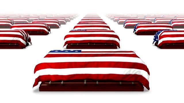 Endless American Coffins front view loop video