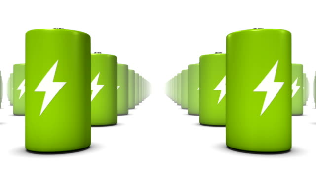 Endless Batteries low angle loop (Green) video
