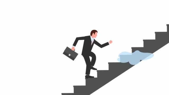 無限のキャリア成長 - 階段点の映像素材/bロール