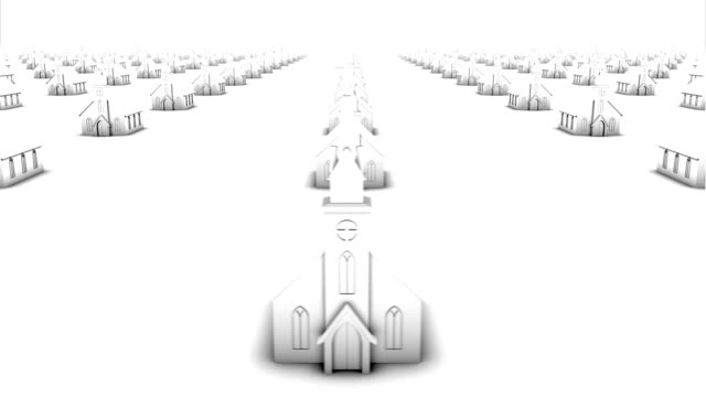 Endless churches front view loop (white)