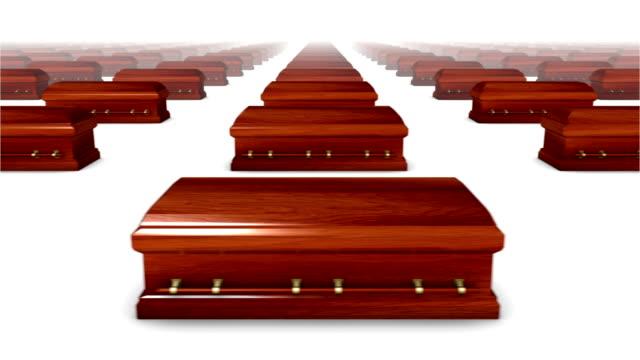 Endless Coffins (wood) front view loop video