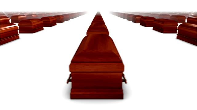 Endless Coffins (wood) side view loop video