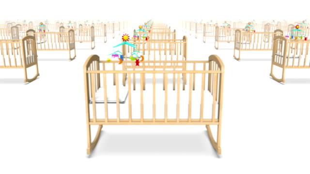 Endless Cribs with Baby front view loop video