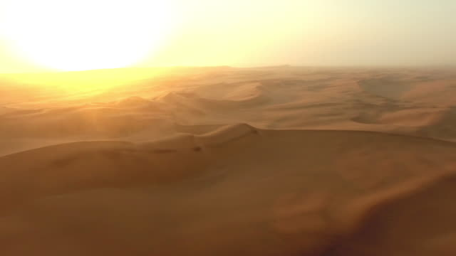 Endless dunes of the Namibian Desert video