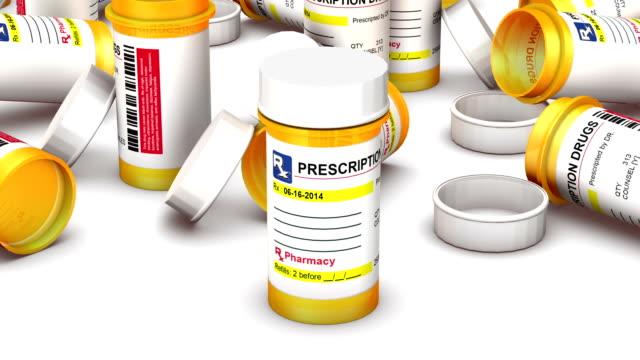Endless Empty Pill Bottles vertigo effect video