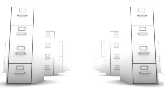 Endless File Cabinets low angle loop (White) video