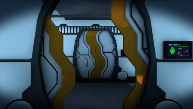 Endless futuristic corridor video