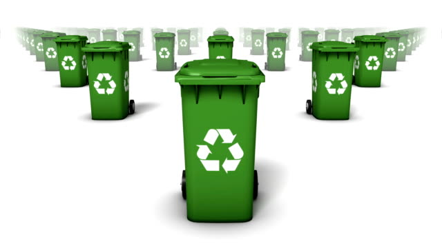 Endless Recycle Bins front view loop (Green) video