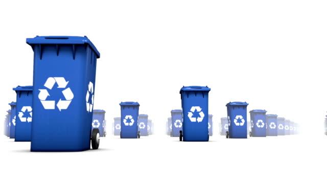Endless Recycle Bins low angle loop (Blue) video