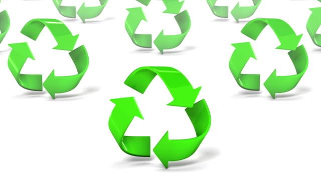 Endless Recycle Symbols vertigo effect video