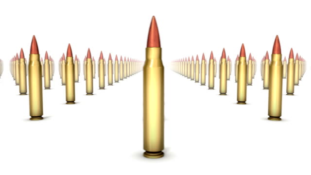 Endless Rifle Bullets front view loop video