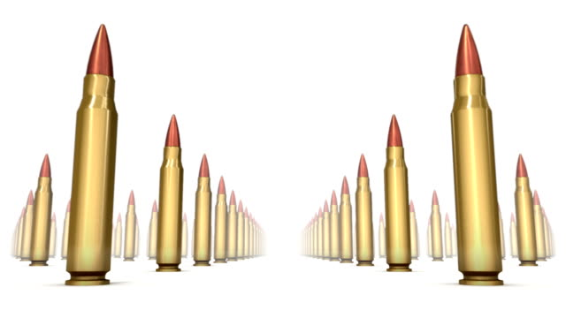 Endless Rifle Bullets low angle loop video