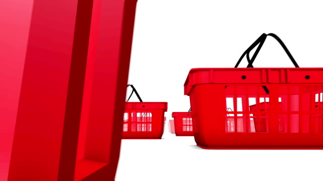 Endless Shopping Baskets low angle loop video
