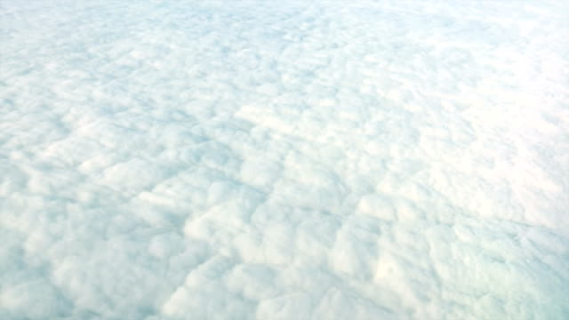 Endless solid cloudfield looked like snowfield from above video