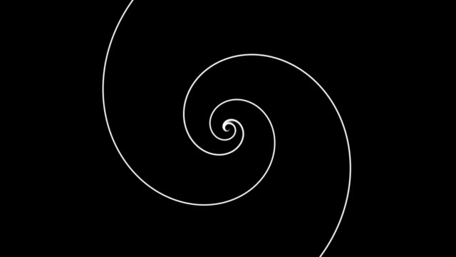 Endless spiral. Seamless loop footage. video